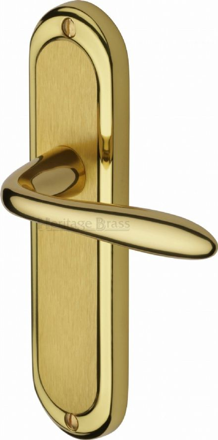 M Marcus Heritage Brass HEN1210MF Henley Door Handle on Latch Backplate Mayfair Dual Finish